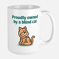 Proudly Owned (Cat) Large Mug