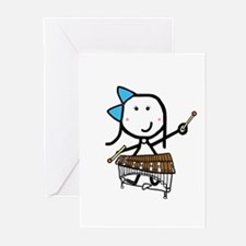 Girl & Pit Percussion Greeting Cards (Pk of 10)