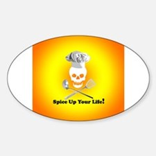 Cooking Skull Chef Oval Decal