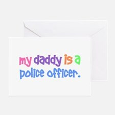 My Daddy Is A Police Officer PASTEL Greeting Card