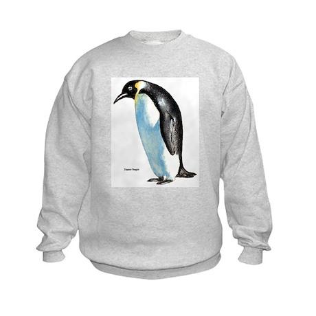 Emperor Penguin (Front) Kids Sweatshirt