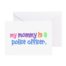 My Mommy Is A Police Officer PASTEL Greeting Card