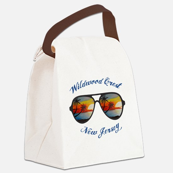 Funny Beach Canvas Lunch Bag