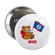 "Belize Teddy Bear 2.25"" Button (10 pack)"
