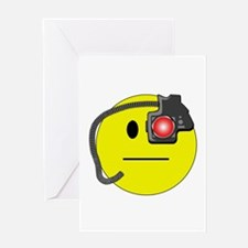 Assimilated Smiley Greeting Card