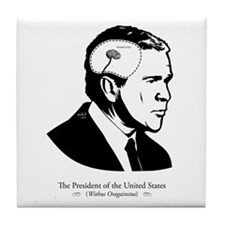 Bush: Tiny Brain Tile Coaster