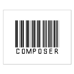 Composer Barcode Posters