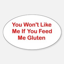 Won't Like Me - Gluten Oval Decal