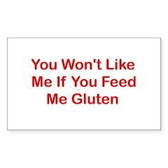Won't Like Me - Gluten Rectangle Sticker