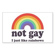Not Gay Rainbow Rectangle Decal