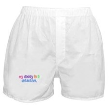 My Daddy Is A Detective PASTEL Boxer Shorts