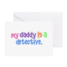 My Daddy Is A Detective PASTEL Greeting Card