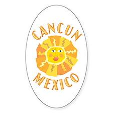 Cancun Sun - Oval Decal
