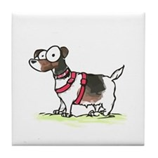 jack russell terrier Tile Coaster