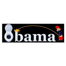 Whiz on Obama Bumper Bumper Sticker