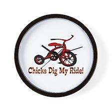 Dig My Ride Wall Clock
