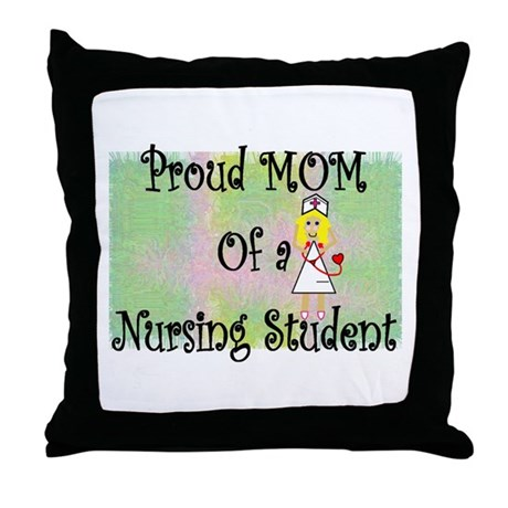 nursing student hierarchy Throw Pillow