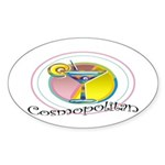 Cosmopolitan Oval Sticker