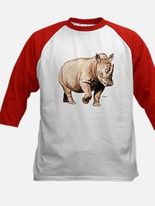 Rhino Rhinoceros (Front) Kids Baseball Jersey