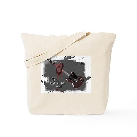 Rock 'n' Roll Heart Tote Bag