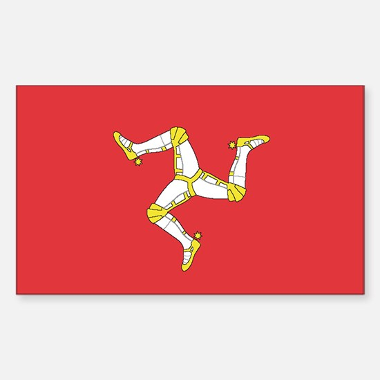 MAN-ISLE-FLAG Rectangle Decal