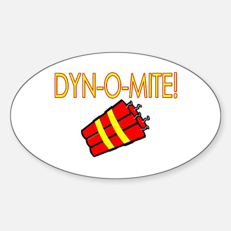 Dynomite Oval Decal