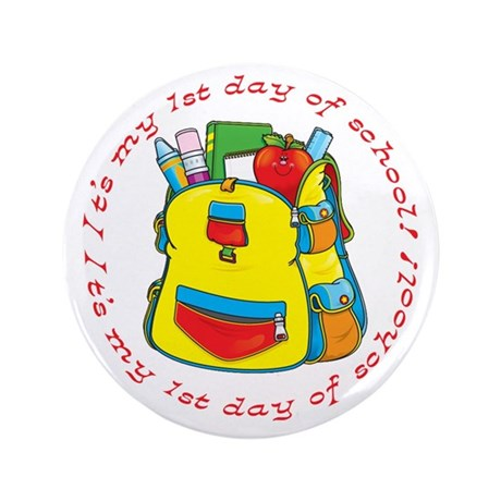 "First 1st Day of School 3.5"" Button (100 pack)"