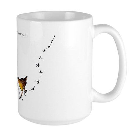 Clapper rail mad dash Large Mug