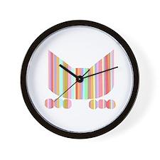 Stripey Pounce Cat Wall Clock