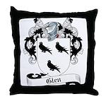 Glen Family Crest Throw Pillow