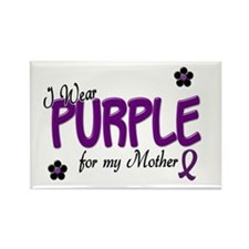 I Wear Purple For My Mother 14 Rectangle Magnet