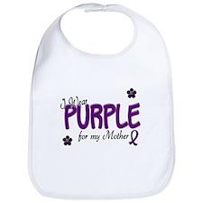I Wear Purple For My Mother 14 Bib