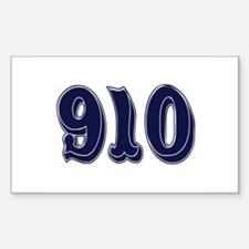 910 Rectangle Decal
