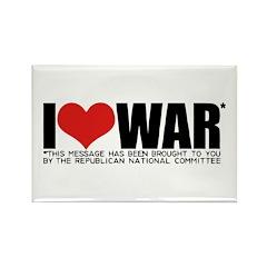 I Love War Rectangle Magnet