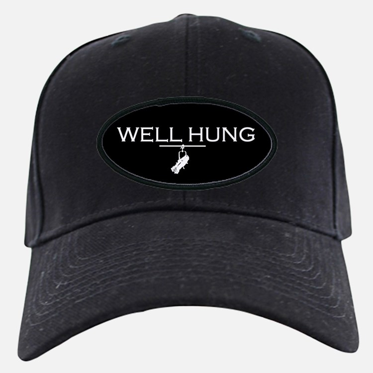 well hung baseball hat black hat unique lighting