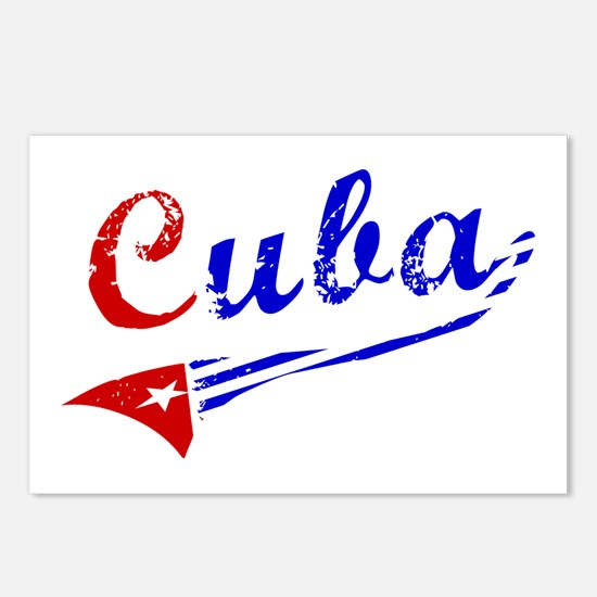 Cuba Flag Distressed Postcards (Package of 8)