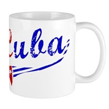 Cuba Flag Distressed Mug