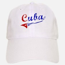 Cuba Flag Distressed Baseball Baseball Cap