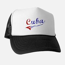 Cuba Flag Distressed Trucker Hat