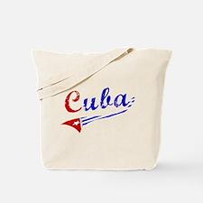 Cuba Flag Distressed Tote Bag