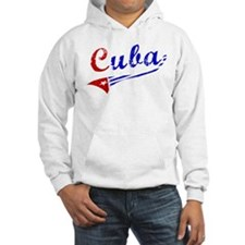 Cuba Flag Distressed Jumper Hoody