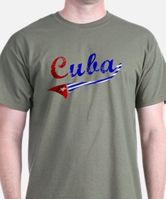 Cuba Flag Distressed T-Shirt