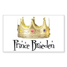 Prince Braeden Rectangle Decal