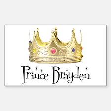 Prince Brayden Rectangle Decal