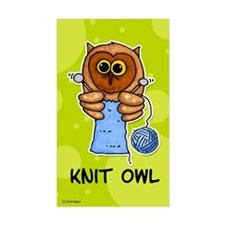 Knit owl Rectangle Decal