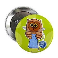 "Knit owl 2.25"" Button"