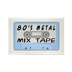 80's Mix Tape Rectangle Magnet (100 pack)