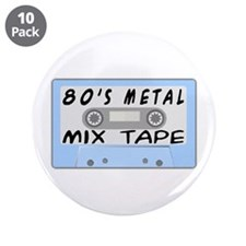 "80's Mix Tape 3.5"" Button (10 pack)"