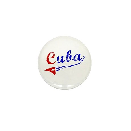 Cuba Flag Distressed Mini Button (10 pack)