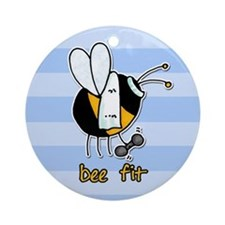 bee fit (striped) Ornament (Round)